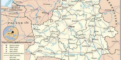 Est Europa Cartina.Bielorussia Bielorussia Bielorussia Mappa Mappe